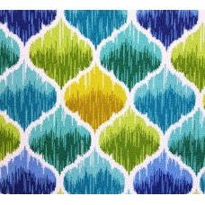Ikat Ellipse Look Outdoor Fabric in Green
