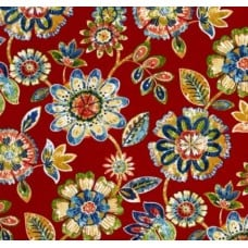 Daelyn Floral in Cherry Indoor Outdoor Fabrics