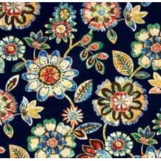 Daelyn Floral in Navy Indoor Outdoor Fabrics