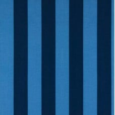Stripe Navy and Blue Polyester Outdoor Fabric