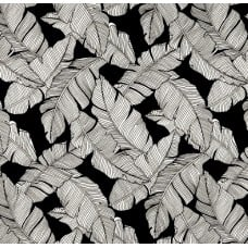 Resort Palm Leaf Outline Styled Indoor Outdoor Fabric