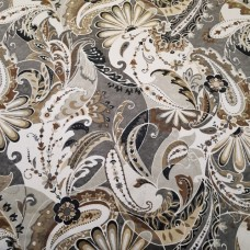 Magnificent Paisley Swirl in Charcoal Cotton Home Decor Fabric Fabric Traders