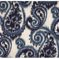 Paisley Ikat Blues Indoor Outdoor Fabric Fabric Traders