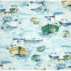 Down at the Bay Blue Indoor Outdoor Fabric