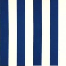 Striped Outdoor Fabric in Blue and White