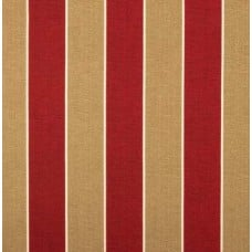 Stripe Patina Outdoor Fabric in Red Cherry Fabric Traders