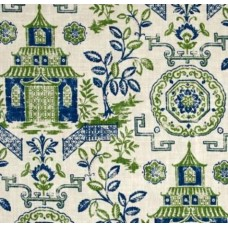 Teahouse Green and Blue Luxe Linen Blend Home Decor Fabric
