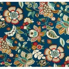 Telfair Floral in Teal Indoor Outdoor Fabrics