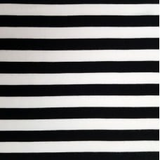 Jersey Knit Cotton Blend Fabric Stripe in Black and White