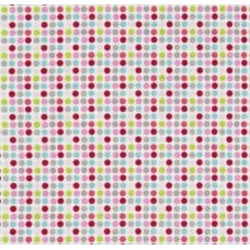 Christmas Dots Cotton Fabric in Pink