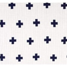 Lightweight Cotton Gauze Muslin Fabric Plus in Navy
