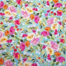 Sweet Melody Floral Cotton Fabric in Blue by Riley Blake Fabric Traders