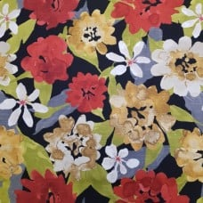 Floral Lacquer Luxe Cotton Home Decor Fabric by Robert Allen
