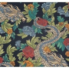 Ming Dragon Admin Luxe Cotton Home Decor Fabric by Robert Allen Fabric Traders