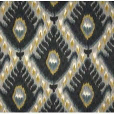 REMNANT - Bold Ikat Cotton Home Decor Fabric in Mineral by Robert Allen @ Home Fabric Traders