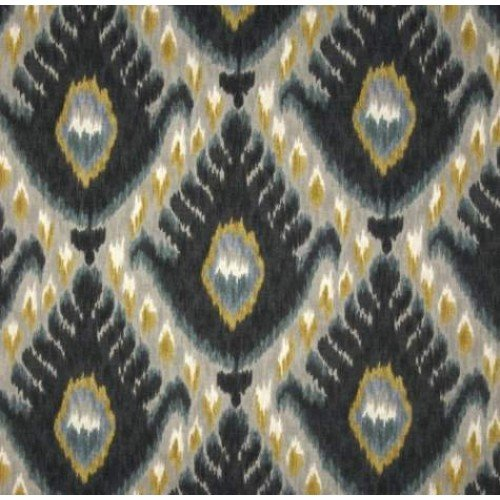 Bold Ikat Cotton Home Decor Fabric In Mineral By Robert Allen