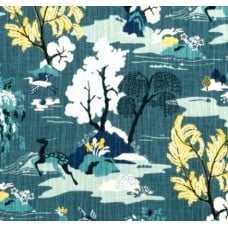 Modern Toile Peacock Luxe Cotton Home Decor Fabric by Robert Allen @ Home