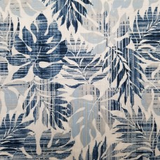 Leaves Cotton Fabric in Blue by Robert Kaufman Fabric Traders