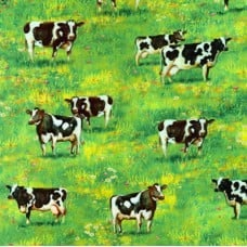Down On The Farm Country Cows in the Paddock Cotton Fabric by Robert Kaufman Fabric Traders