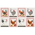 Down On The Farm Country Panel Cotton Fabric by Robert Kaufman