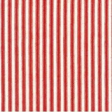 Down On The Farm Stripes in Red Ticking Cotton Fabric by Robert Kaufman
