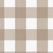 Check Kitchen Window Wovens Cotton Fabric by Robert Kaufmann in Dark Doeskin Large Fabric Traders