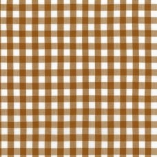 Check Kitchen Window Wovens Cotton Fabric by Robert Kaufmann in Roasted Pecan