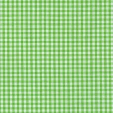 Gingham Cotton Fabric in Lime