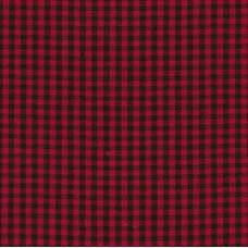 Gingham Cotton Fabric in Red and Black