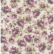 Meredith Floral Ivory Cotton Fabric by Robert Kaufman
