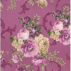 Meredith Floral Large Violet Cotton Fabric by Robert Kaufman