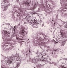 Meredith Floral Full Bloom Purple Cotton Fabric by Robert Kaufman