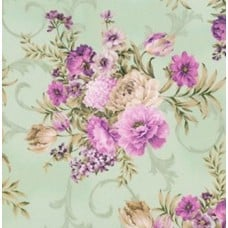 Meredith Floral Large Green Cotton Fabric by Robert Kaufman