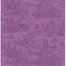 Meredith Toile in Purple Cotton Fabric by Robert Kaufman