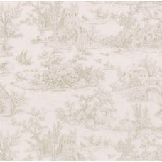 Meredith Toile in Ivory Cotton Fabric by Robert Kaufman Fabric Traders