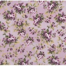 Meredith Floral Purple Cotton Fabric by Robert Kaufman