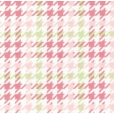 Flannel Houndstooth Cotton Fabric in Pink Fabric Traders