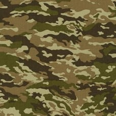 Camouflage Cotton Fabric by Robert Kaufman in Green