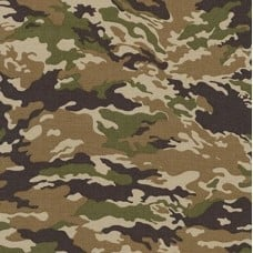 Camouflage Cotton Fabric by Robert Kaufman in Earth