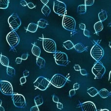 Science Fair 3 Bright Idea Double Helix Cotton Fabric by Robert Kaufman Fabric Traders