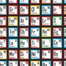 Science Fair Periodic Table Cotton Fabric by Robert Kaufman