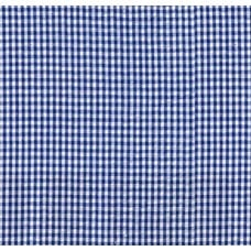 Seersucker Check Cotton Fabric Royal Blue