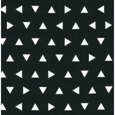 Remix Scattered Triangles Cotton Fabric in Black by Robert Kaufman