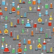 Science Fair Cotton Fabric in Multi by Robert Kaufman Fabric Traders