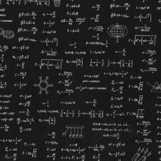 Science Fair Formulae Cotton Fabric in Black by Robert Kaufman