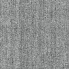 Flannelette Cotton Fabric Herringbone Grey