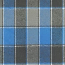 Flannel Plaid Cotton Fabric in Cornflower from Durango Flannel Fabric Traders
