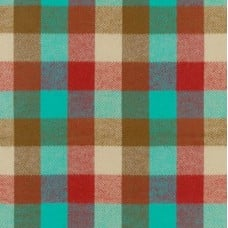 Flannel Plaid Cotton Fabric in Teal from Durango Flannel Fabric Traders