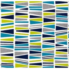 Flannel Geo Marine Cotton Fabric Fabric Traders