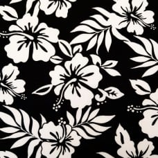 Tropical Flowers in Black and White Cotton Fabric by Robert Kaufman Fabric Traders